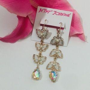 Betsey Johnson Flutterbye Butterfly Earrings